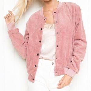 Brandy Melville Women's Pink Corduroy Jacket